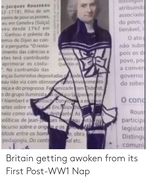 ww1: Britain getting awoken from its First Post-WW1 Nap