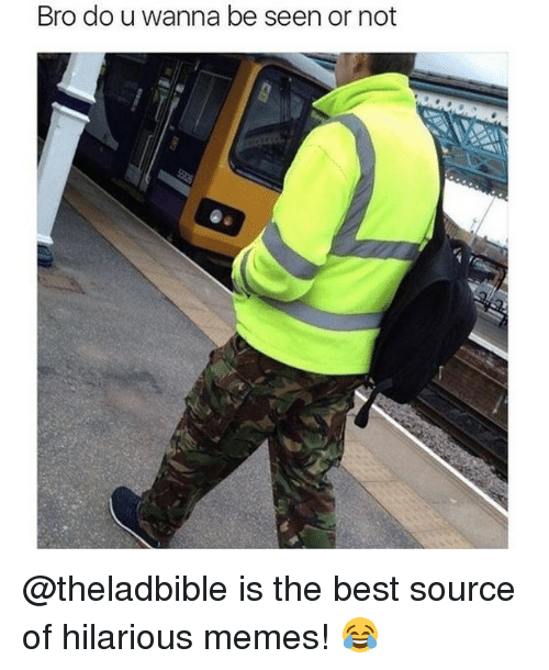 hilarious meme: Bro do u wanna be seen or not @theladbible is the best source of hilarious memes! 😂