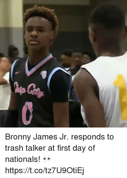nationals: Bronny James Jr. responds to trash talker at first day of nationals! 👀 https://t.co/tz7U9OtiEj