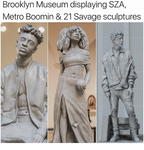 Metro Boomin: Brooklyn Museum displaying SZA  Metro Boomin & 21 Savage sculptures  rr1