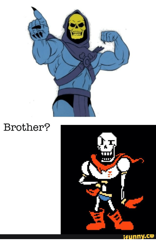 skeletor vs papyrus - 500×788