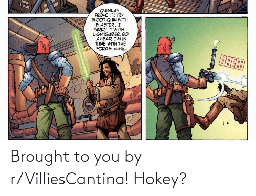 To You: Brought to you by r/VilliesCantina! Hokey?