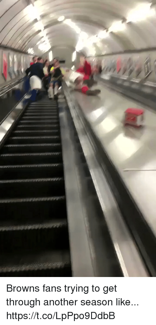 Football, Nfl, and Sports: Browns fans trying to get through another season like... https://t.co/LpPpo9DdbB