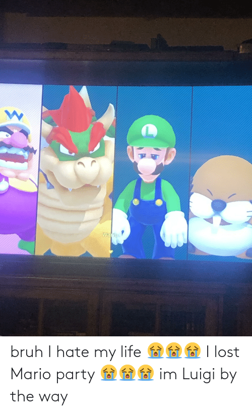 by the way: bruh I hate my life 😭😭😭 I lost Mario party 😭😭😭 im Luigi by the way