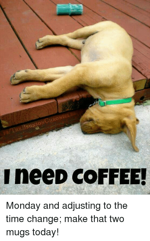 brunso i need coffee monday and adjusting to the time 6224200 brunso i need coffee! monday and adjusting to the time change make
