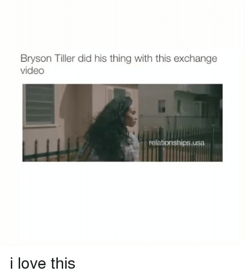 Bryson Tiller, Love, and Relationships: Bryson Tiller did his thing with this exchange  video  relationships usa i love this