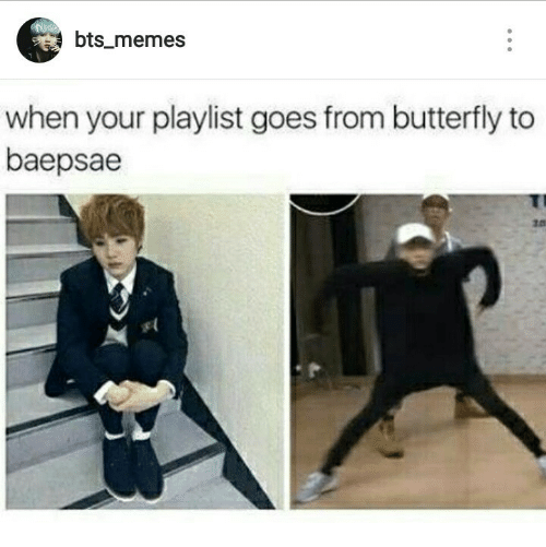 Bts Memes: bts_memes  when your playlist goes from butterfly to  baepsae  10