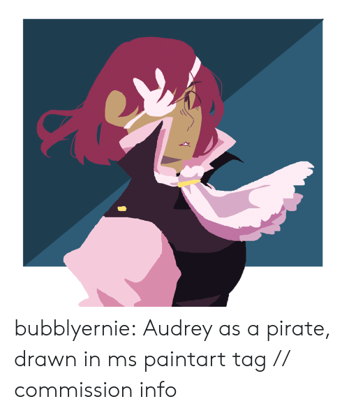 ms paint: bubblyernie:  Audrey as a pirate, drawn in ms paintart tag // commission info