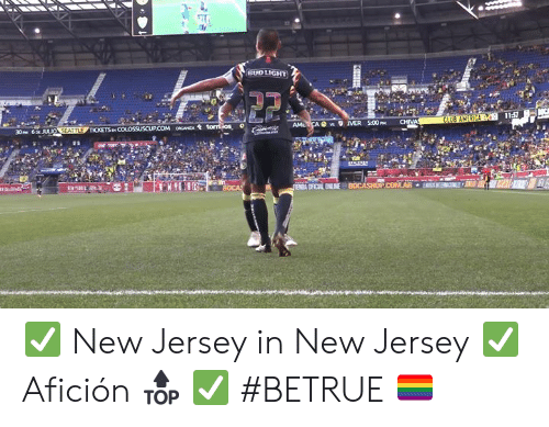 New Jersey: BUD LIGHT  11:57  CLUB AMERICA  CHIVA  AMLCA s MER 500P  30PM 6p JULIO SEATTLE TICKETS p COLOSSUSCUP.COM oCANZA tomios  e m  ENA OFICAL ENLINE BOCASHOPCOMAR  KHIH ✅ New Jersey in New Jersey ✅ Afición 🔝 ✅ #BETRUE 🏳️🌈