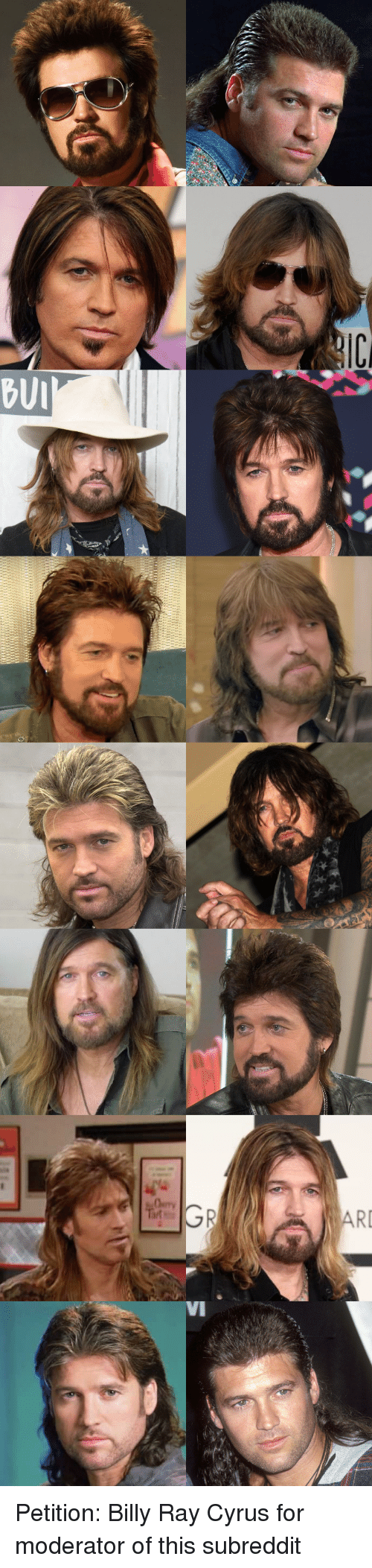 Bui: BUI  RI  VI Petition: Billy Ray Cyrus for moderator of this subreddit