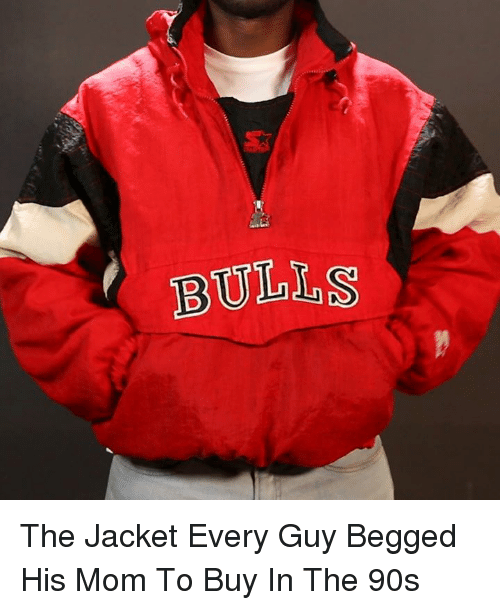 Memes, Mom, and 🤖: BULLS The Jacket Every Guy Begged His Mom To Buy In The 90s