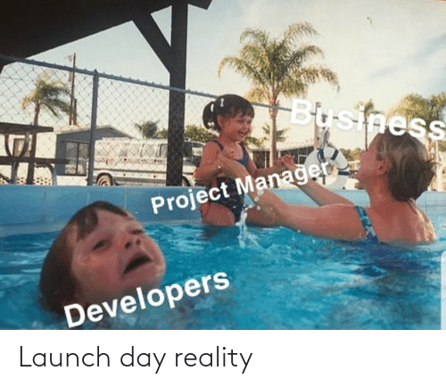 Business, Reality, and Project: Business  Project Managen  Developers Launch day reality