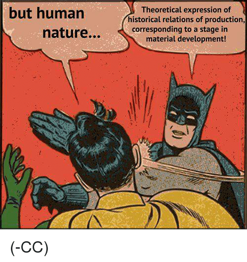 but human nature theoretical expression of historical relations of production 1781519 but human nature theoretical expression of historical relations of,Human Nature Memes