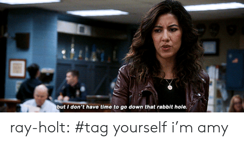 rabbit hole: but I don't have time to go down that rabbit hole. ray-holt:  #tag yourself i'm amy