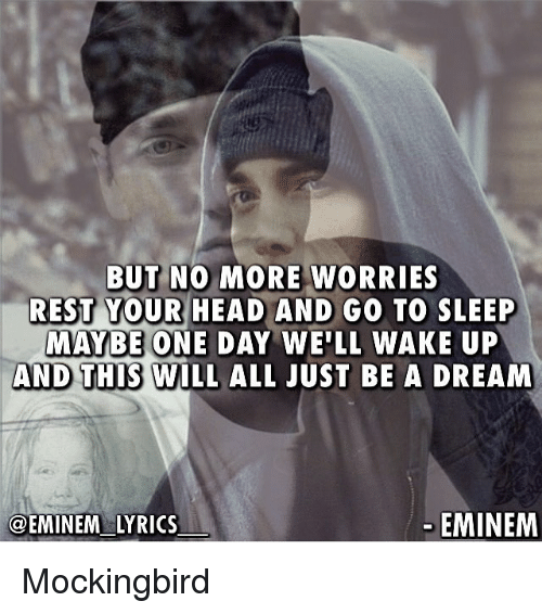 Eminem go to sleep bitch lyrics