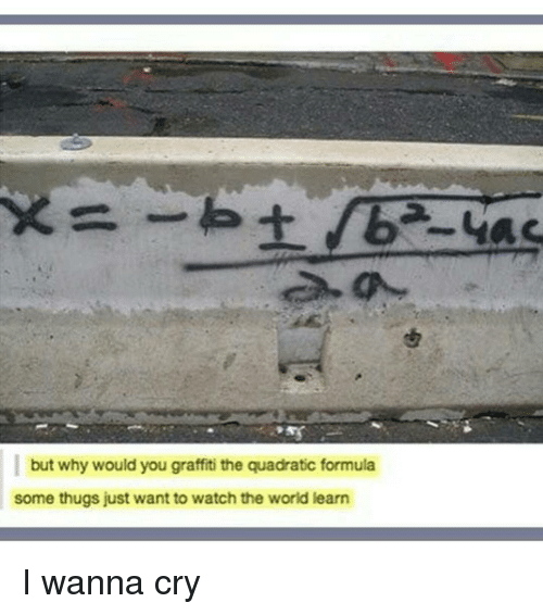 When you were taught the quadratic formula, did they teach ...