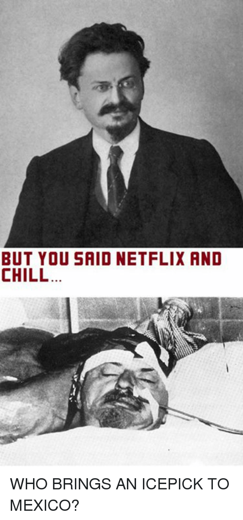 But You Said Netflix And Chill: BUT YOU SAID NETFLIX AND  CHILL WHO BRINGS AN ICEPICK TO MEXICO?