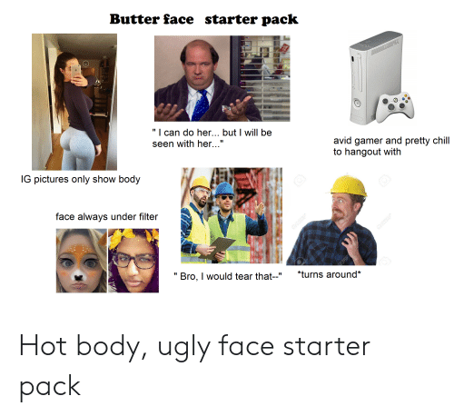 """butter face: Butter face  starter pack  """" 