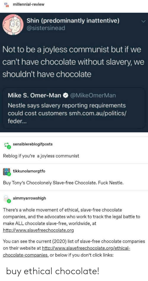 ethical: buy ethical chocolate!