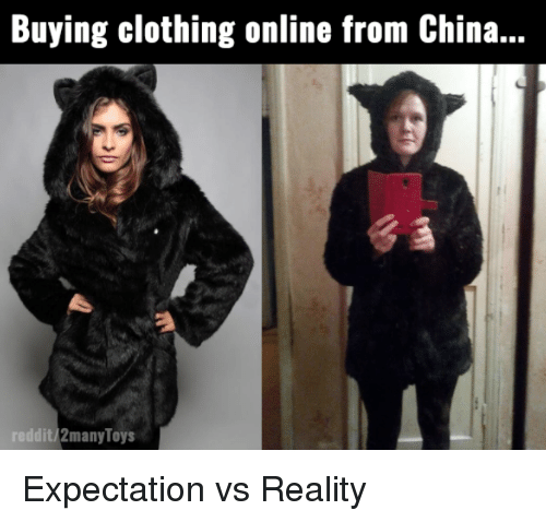 Buying clothes online from china