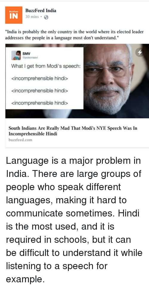 language problem in india How to overcome language and cultural barriers in  managers have a responsibility to affirmatively determine where language and cultural differences in the.