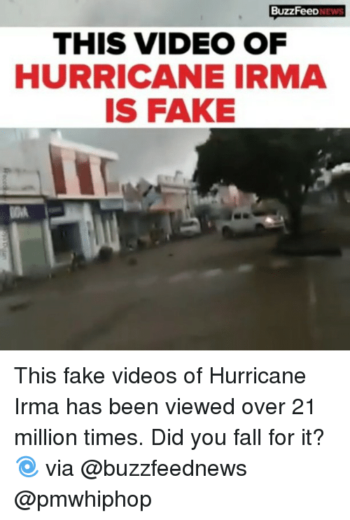 This Video Of Hurricane Irma Is A Fake - Image Copyright OnSizzle.Com & BuzzFeed