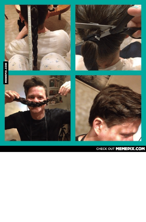 i love my boyfriend: CНЕCK OUT MЕМЕРIХ.COM  MEMEPIX.COM I love my boyfriend for letting his hair grow and donating it to kids with canceromg-humor.tumblr.com