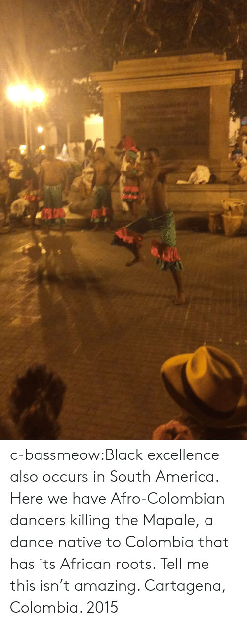 Dancers: c-bassmeow:Black excellence also occurs in South America. Here we have Afro-Colombian dancers killing the Mapale, a dance native to Colombia that has its African roots. Tell me this isn't amazing. Cartagena, Colombia.    2015