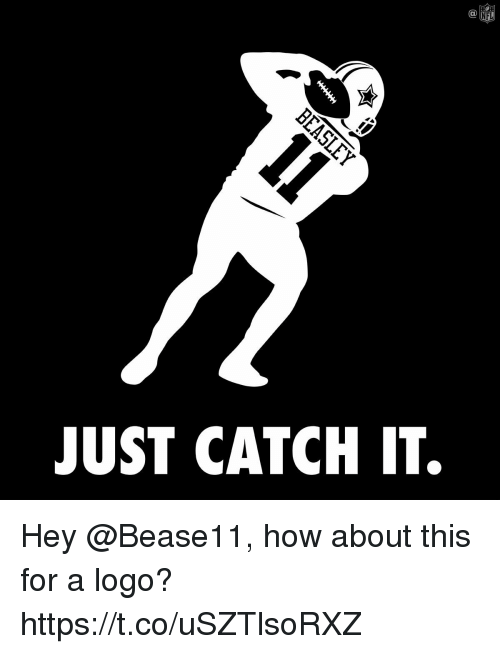 Memes, Nfl, and 🤖: C@  NFL  JUST CATCH IT. Hey @Bease11, how about this for a logo? https://t.co/uSZTlsoRXZ