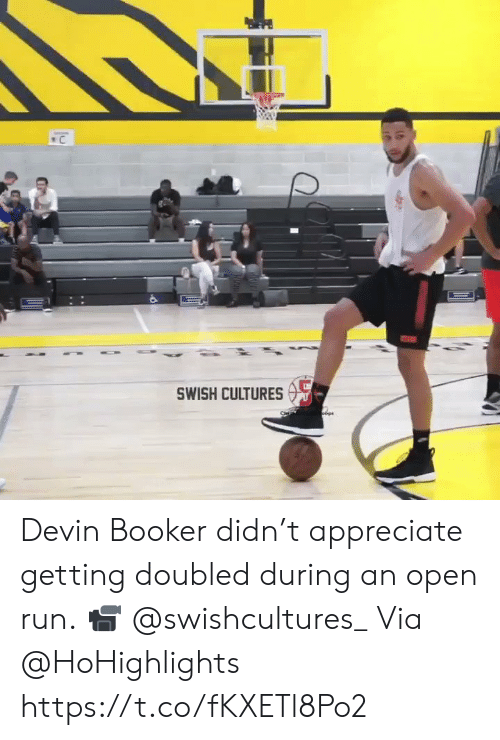 Devin: C  SWISH CULTURES Devin Booker didn't appreciate getting doubled during an open run.  📹 @swishcultures_ Via @HoHighlights   https://t.co/fKXETl8Po2