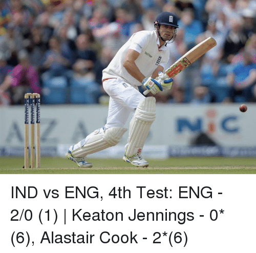 C Uss IND vs ENG 4th Test ENG - 20 1 | Keaton Jennings - 0 ...