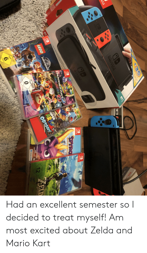 Lego, Mario Kart, and Nintendo: C35  Nintendo  douse  OND S  NINTENO  SWITCH  . GB  CWITEH  AD  NINTENoe  RINTENS  SWITCH  SWITCH  SWITCH  SPYRG  Waie  ch Carry e & Protectof  MARIOKART  DELUXE  REGN  aD  RLOGY  NINTENO  SWITCH  LEGO  JURASSIG WORLD  SUPER  LAR  ODYSSEY  USK  at  0  3 ORIGINALSPIELE  USK  THE LEGENo  12  freigegeben  NEU  CEMASTERT A  ELD  Onternet-Dowm  BREATH  USK  ab  aAM  6  freigegeben Had an excellent semester so I decided to treat myself! Am most excited about Zelda and Mario Kart