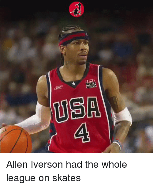 Allen Iverson, Funny, and Iverson: CA  EG Allen Iverson had the whole league on skates