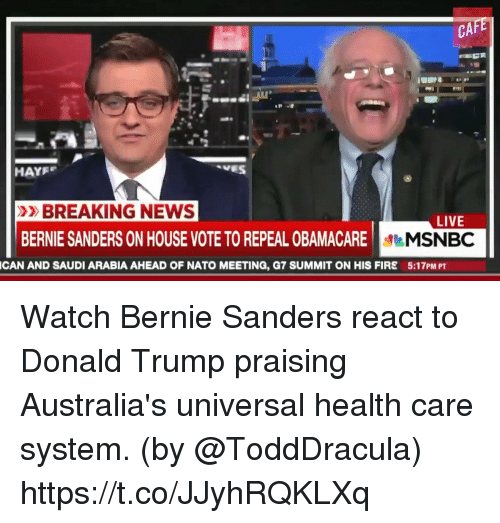 Msnbc Breaking News: CAF HAYF BREAKING NEWS LIVE BERNIE SANDERS ON HOUSE VOTETO