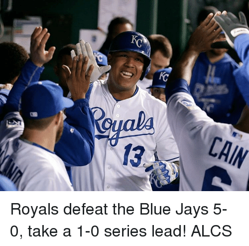 Blue Jays: CAIN Royals defeat the Blue Jays 5-0, take a 1-0 series lead! ALCS