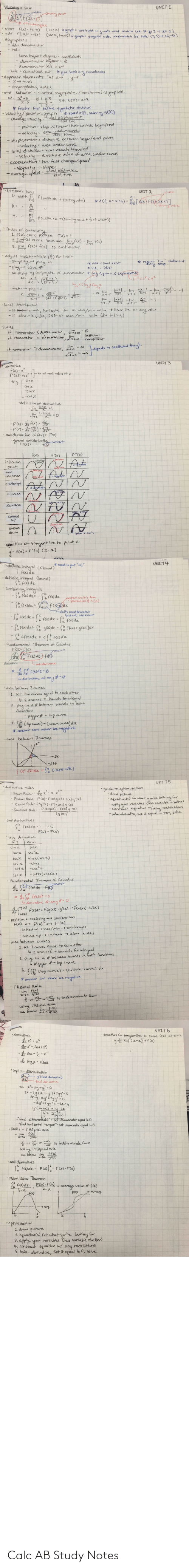 notes: Calc AB Study Notes
