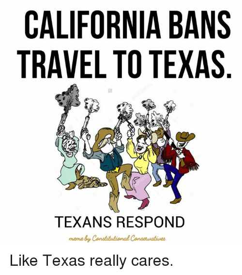 What Is The California Travel Ban