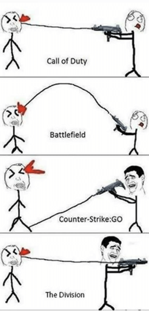 Battlefield: Call of Duty  Battlefield  Counter-Strike:GO  The Division