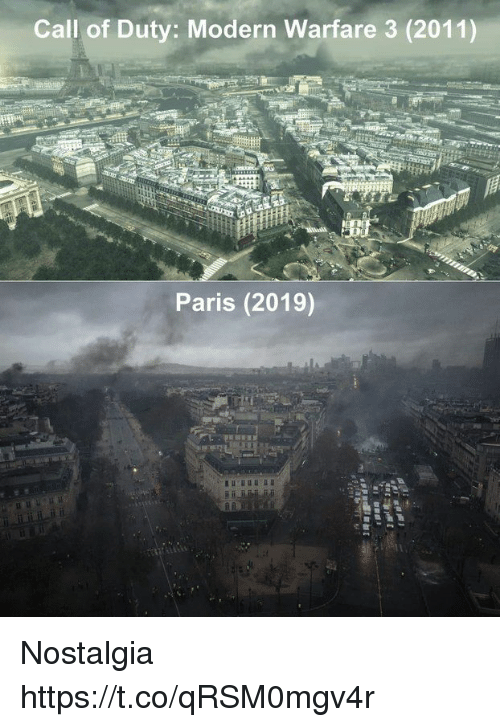 modern warfare: Call of Duty: Modern Warfare 3 (2011)  Paris (2019) Nostalgia https://t.co/qRSM0mgv4r