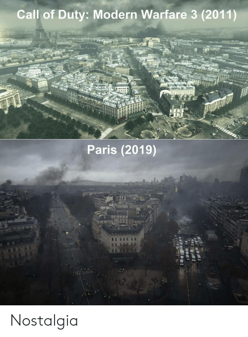 modern warfare: Call of Duty: Modern Warfare 3 (2011)  Paris (2019) Nostalgia