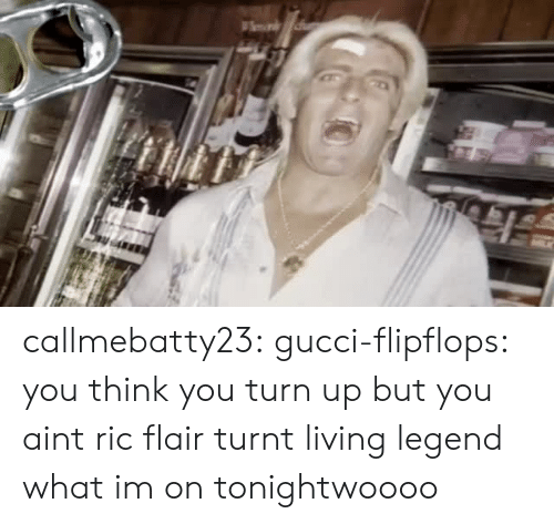 Ric Flair: callmebatty23:  gucci-flipflops:  you think you turn up but you aint ric flair turnt  living legend  what im on tonightwoooo
