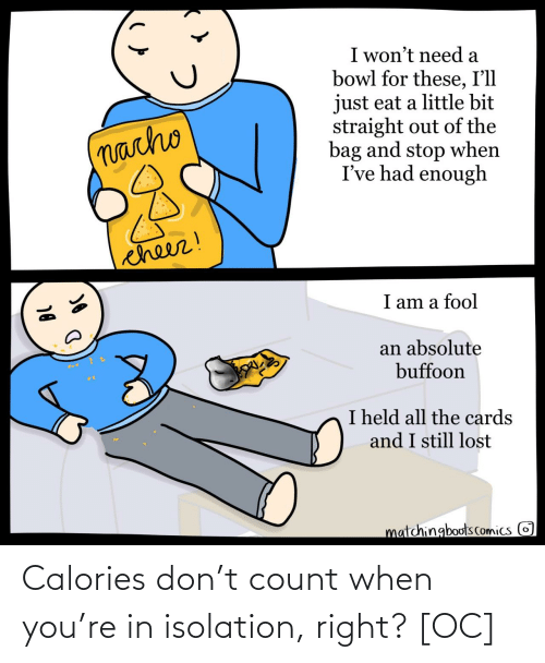 Count: Calories don't count when you're in isolation, right? [OC]