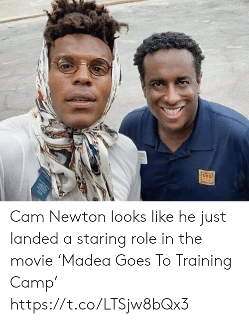 Cam Newton: Cam Newton looks like he just landed a staring role in the movie 'Madea Goes To Training Camp' https://t.co/LTSjw8bQx3