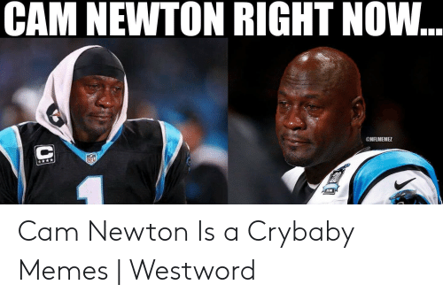 Cam Newton Memes: CAM NEWTON RIGHT NOW...  ONFLMEMEZ  Nr Cam Newton Is a Crybaby Memes   Westword