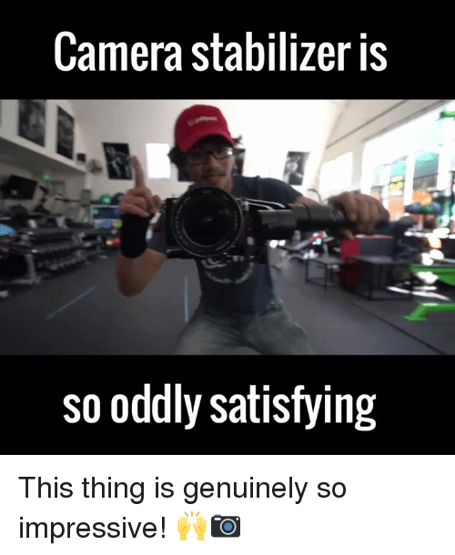 camera stabilization: Camera stabilizer is  so oddly satisfying This thing is genuinely so impressive! 🙌📷