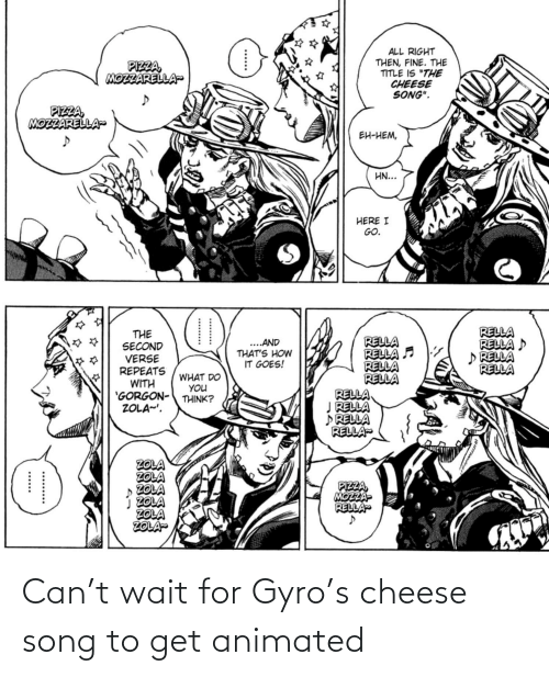 Animated: Can't wait for Gyro's cheese song to get animated