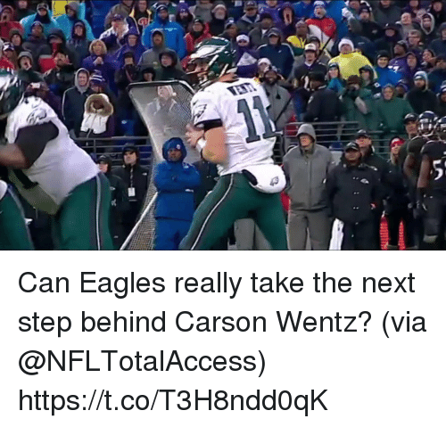 Philadelphia Eagles, Memes, and 🤖: Can Eagles really take the next step behind Carson Wentz?  (via @NFLTotalAccess) https://t.co/T3H8ndd0qK