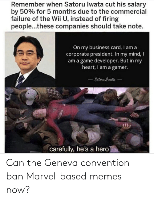 Ban: Can the Geneva convention ban Marvel-based memes now?
