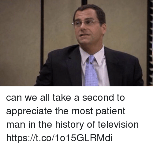 Television: can we all take a second to appreciate the most patient man in the history of television https://t.co/1o15GLRMdi