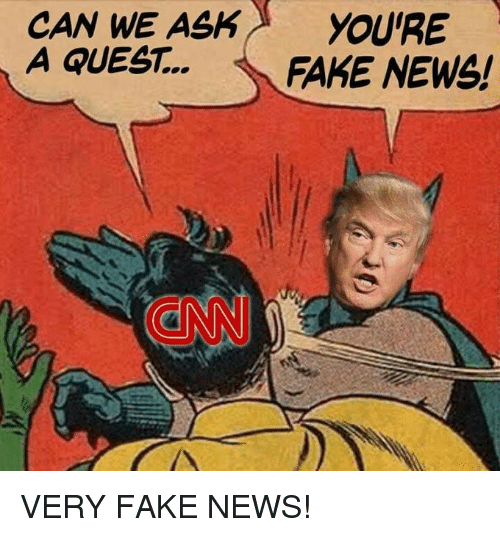 cnn.com, Fake, and Memes: CAN WE ASKYOURE  A QUEST.. FAKE NEWS!  CNN VERY FAKE NEWS!
